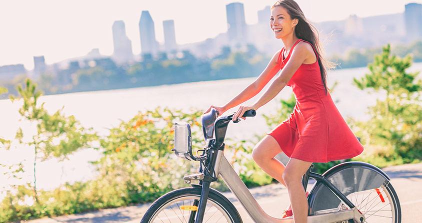 Många fördelar med att cykla